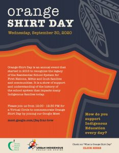 Orange Shirt Day – Acknowledging the Lasting Legacy of the Canadian Residential School System