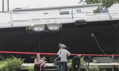 Tornado tosses trailer in Quebec