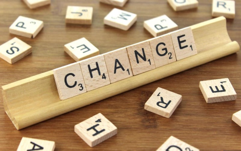 scrabble board 'change'