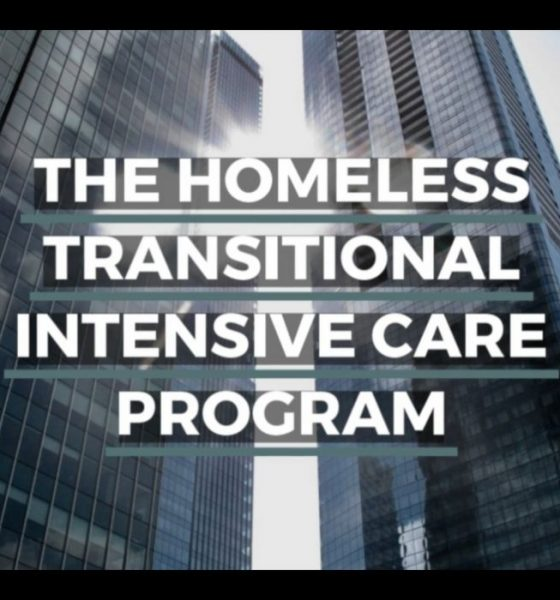 Edmonton Downtown buildings with title HOMELESS TRANSITIONAL INTENSIVE CARE PROGRAM