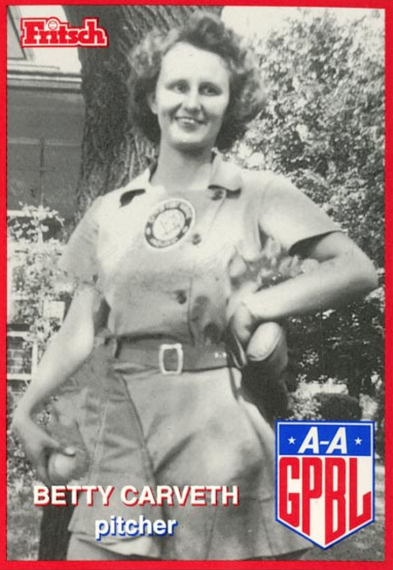 Betty Carveth Dunn baseball card