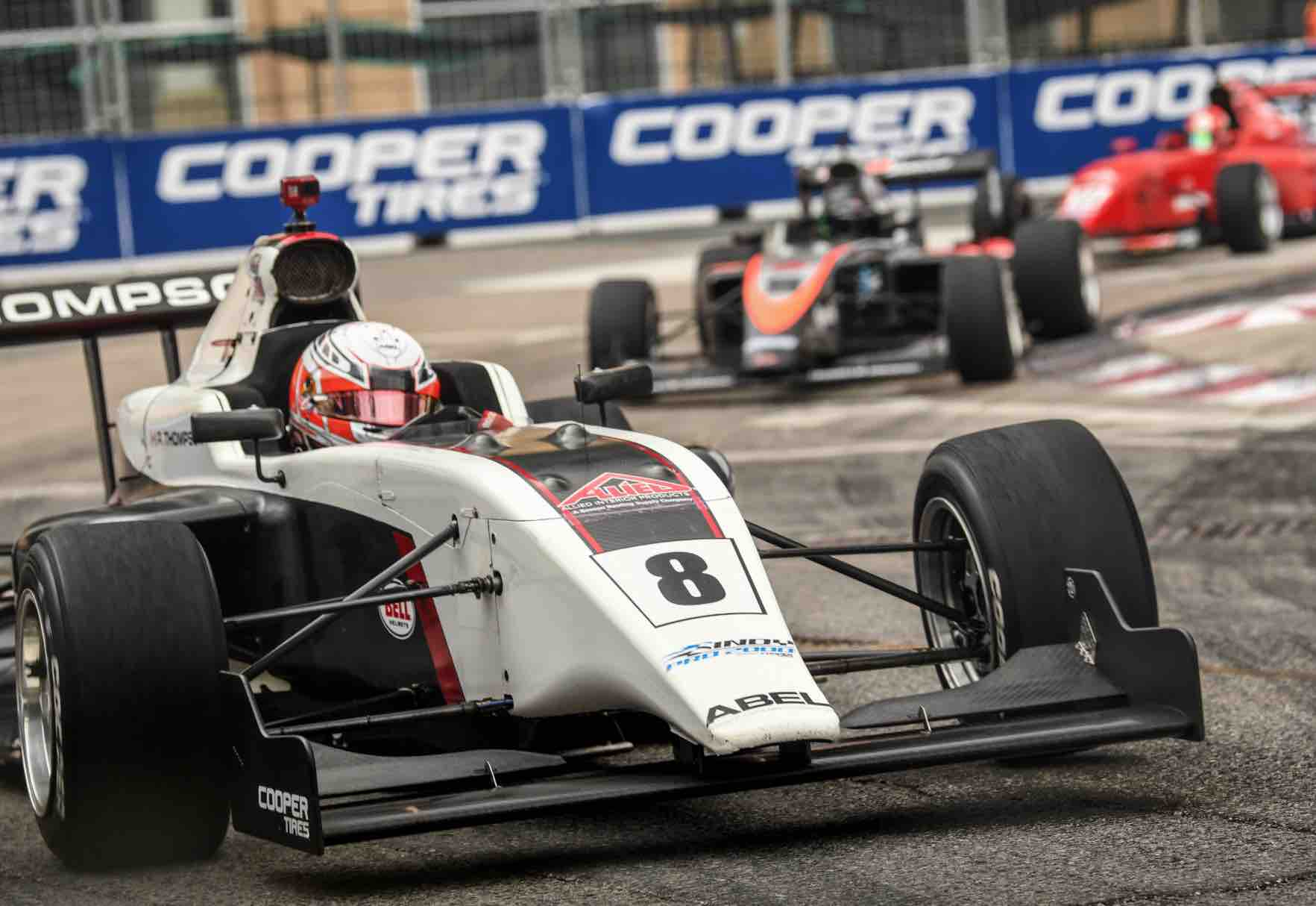 Parker Thompson representing Abel Sports in Toronto Indy