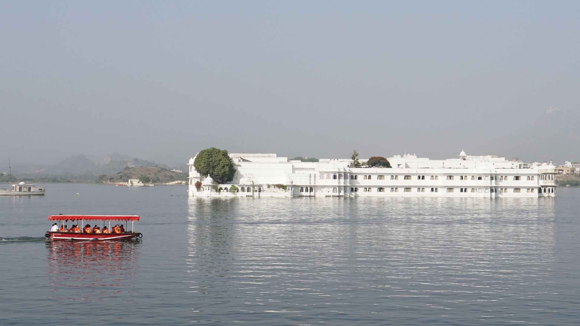 White palace on water