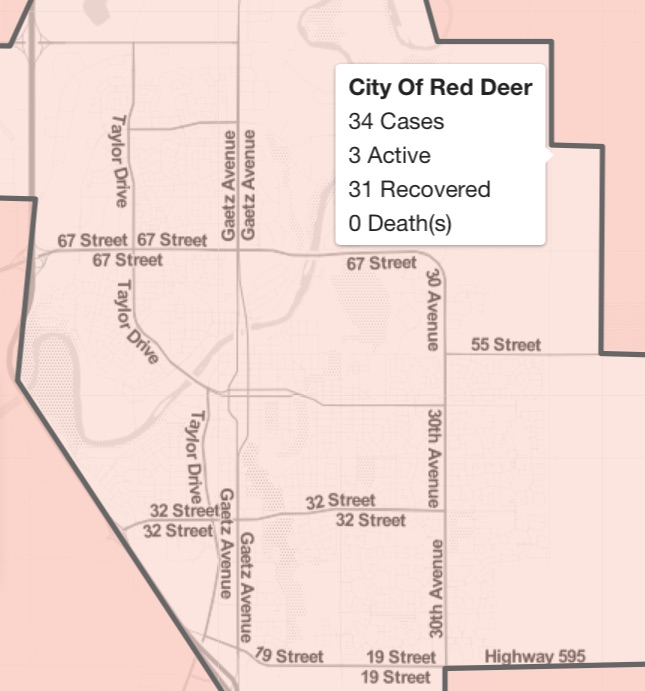 With Just 3 Active Cases Red Deer Among The Most Fortunate Cities In Alberta Todayville