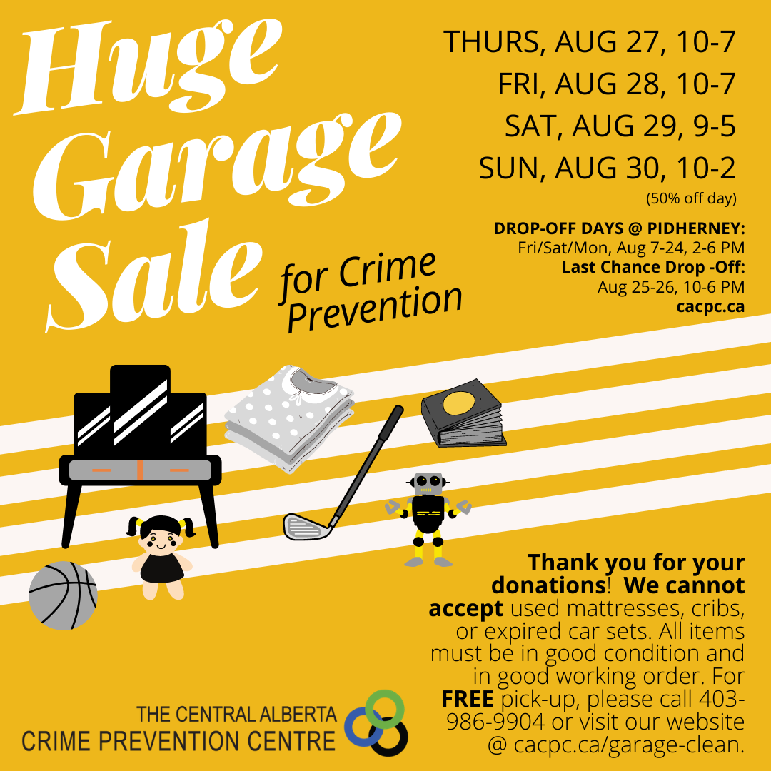 Huge Garage Sale for Crime Prevention